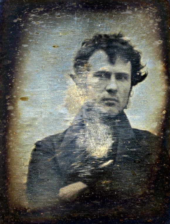 Robert Cornelius, autorretrato (daguerrotipo, ca. octubre de 1839)