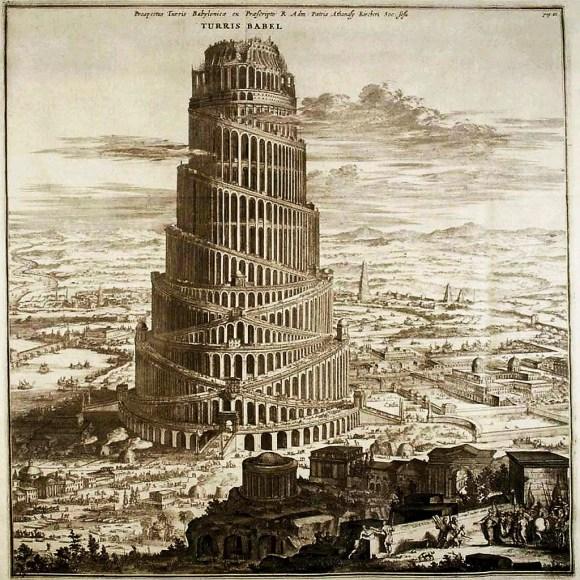Athanasius Kircher, La Torre de Babel (1679).