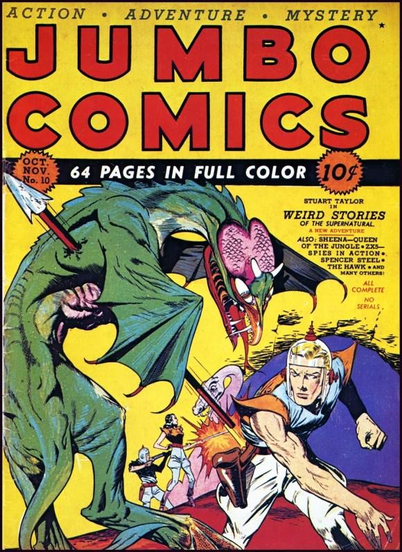Will Eisner y Lou Fine, Jumbo Comics Nro. 10 (octubre-noviembre de 1939). Fiction House.