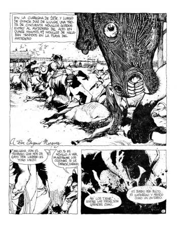 Enrique Breccia, El matadero (Fierro Nro. 1, 1984)