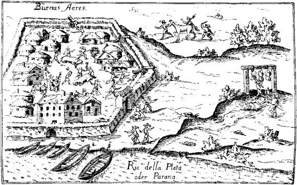 Ulrico Schmidl, Buenos Aires en 1536