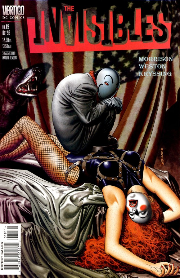 Brian Bolland - The Invisibles v2 Nro. 19 (octubre 1998). Vertigo/DC Comics.