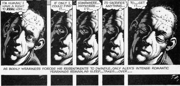 "Ralph Reese y Jerry Siegel, ""Let the dreamer beware"" (1974 Nightmare Yearbook). Skywald Publications."