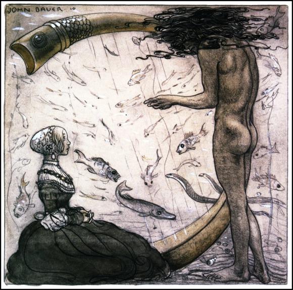 John Bauer, Agneta y el Rey del Mar (1910)