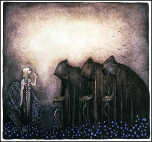 John Bauer, La llave dorada (1915)