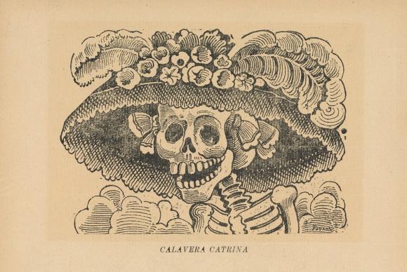 La Catrina o La Calavera Garbancera, de José Gudalupe Posada (1913).