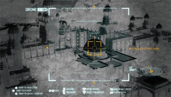 Geroge Lamontagne III, diseño de la perspectiva de un drone para proyecto de simulador militar de disparo en primera persona (2011).
