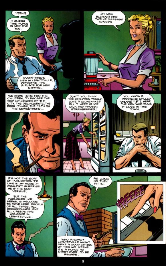 Eduardo Barreto y Gerard Jones - Martian Manhunter- American Secrets N.2 (enero de 1992, pp. 8-9)