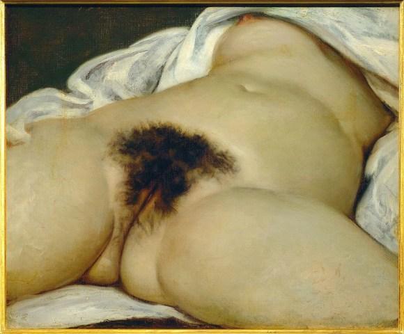 Gustave Courbet, El origen del mundo (1866), óleo sobre tela, 55cm x 46cm. Musée D'Orsay, París.