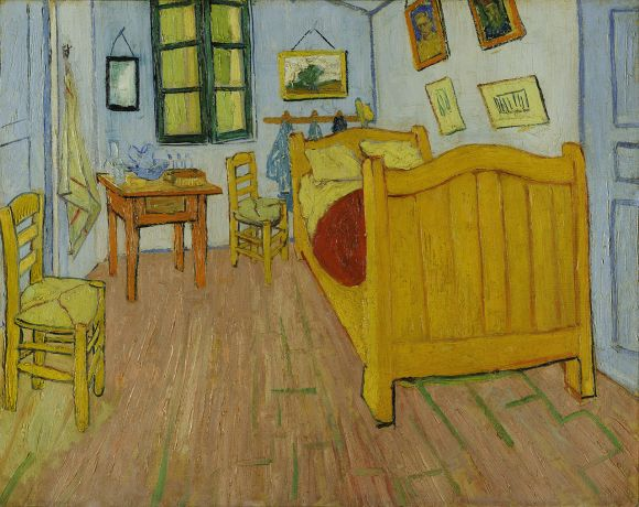 Vincent van Gogh, El dormitorio en Arlés (1888), óleo sobre tela, 72 cm x 90 cm.Museo Van Gogh, Amsterdam